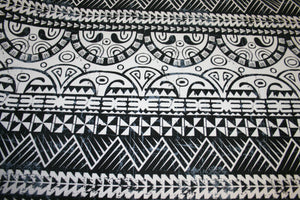 Black White Ula Nifo Fabric