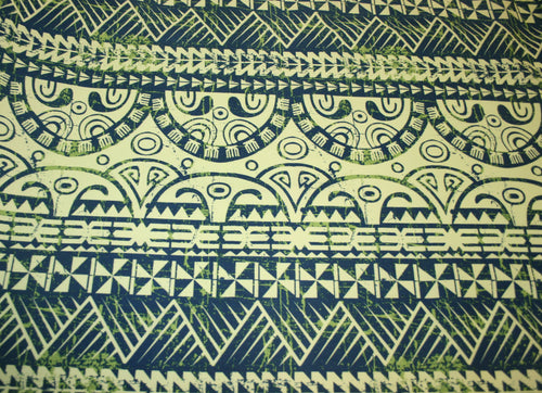Lime White Ula Nifo Fabric