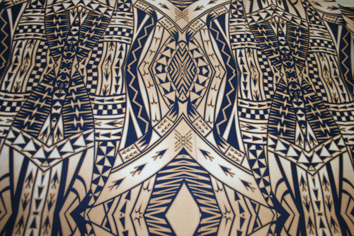 Brown Blue Laumei Fabric