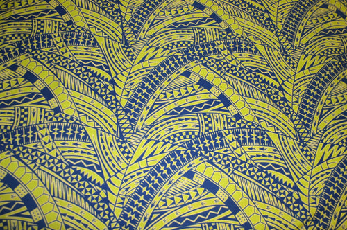 Lime Blue Vaepa'a Fabric