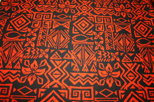 Black Orange Fabric- SB551-TS