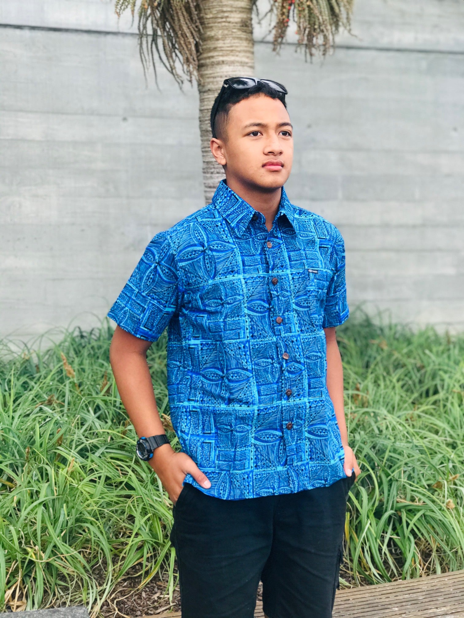 Men's Shirt SS1836 Blue