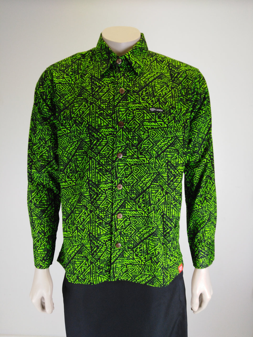 Tanoa Men's L/S Shirt SL1206 Green