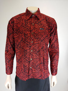 Tanoa Men's L/S Shirt SL1206 Red
