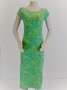 LD1615/ Sialei Ladies Dress/ Green