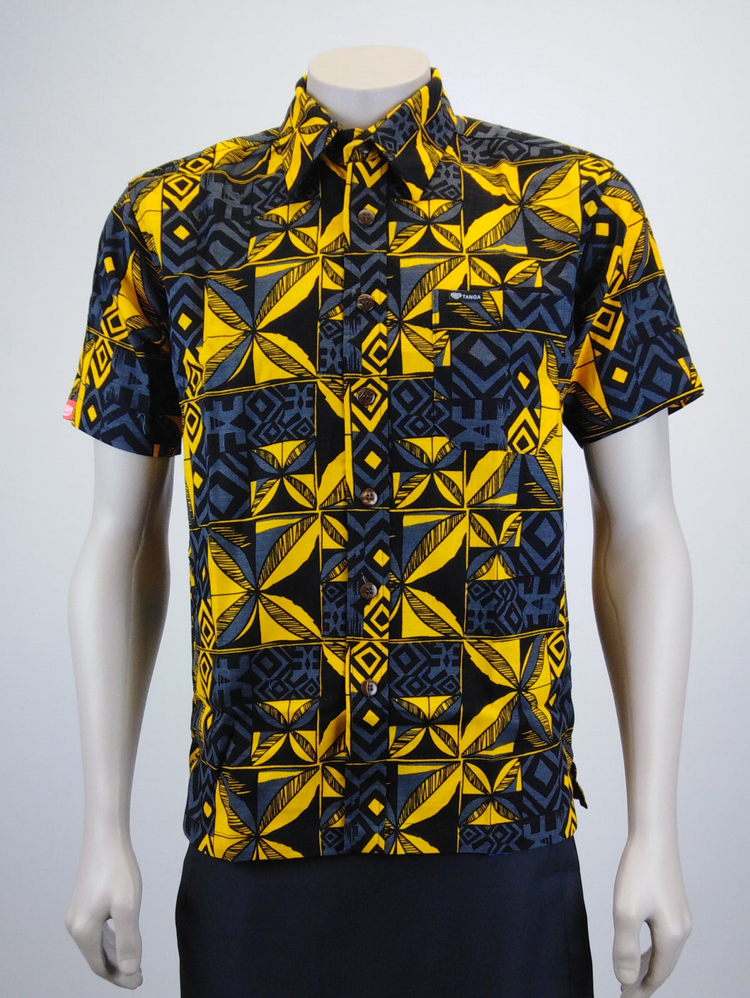 Men's Shirt SS2072 Black/Yellow