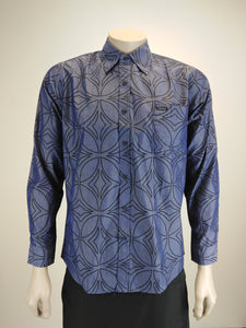 Tanoa Men's L/Sleeve Shirt/ SL1115/ Blue