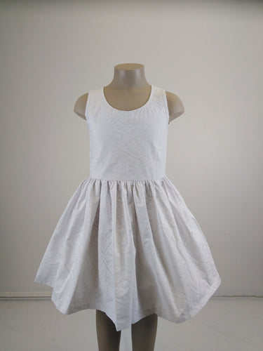 Sialei Girls Summer Dress LG1241 WHITE