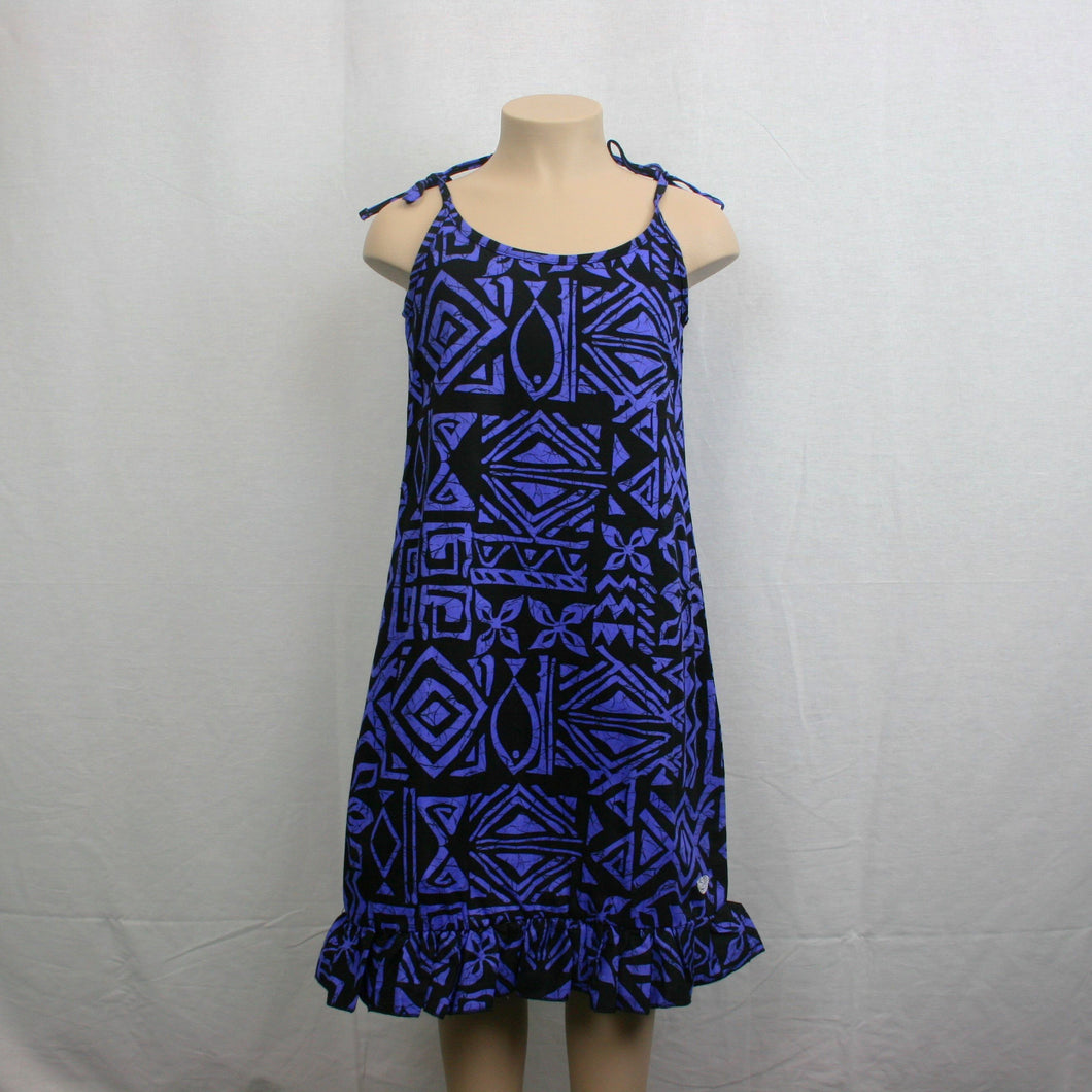 Girls Flare Mumu Dress/ LG621- TS Purple Black