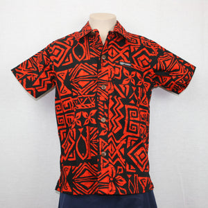 Boys JS Bula Shirts/ SB551- Black Orange