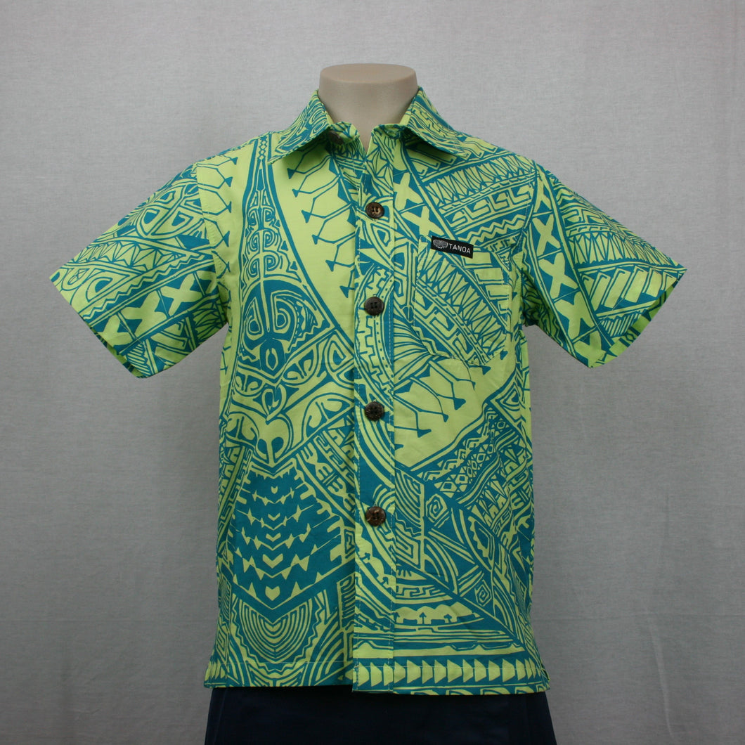 Boys Cotton Shirt SB502-TS/Lime