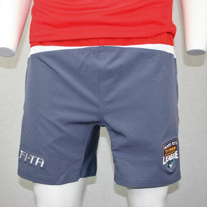 Tonga Shorts- Red Grey