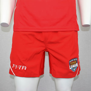 Tonga Shorts- Plain Red