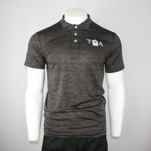 Milange Polo Shirt- PM375/ Black