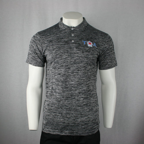 Milange Polo Shirt- PM375/ Grey