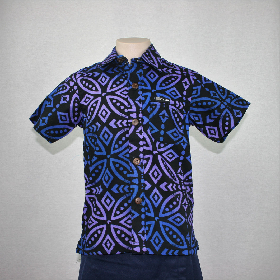Boys JS Bula Shirts/ SB554- TS Purple Blue