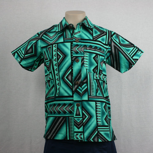 Boys Bula Shirt- SB517-TS Green