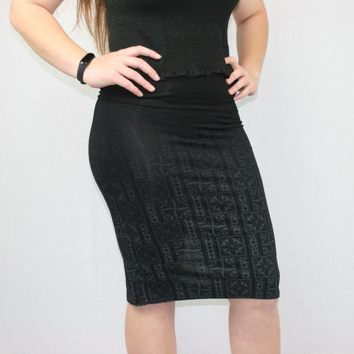 Sialei Matagofie Skirt- LS475-TS/ Ombre Black