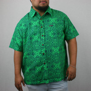 Men's Bula Shirt- SS1411/ GREEN