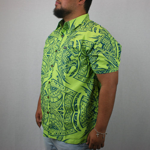 Men's Bula Shirt- SS1423/ GREEN