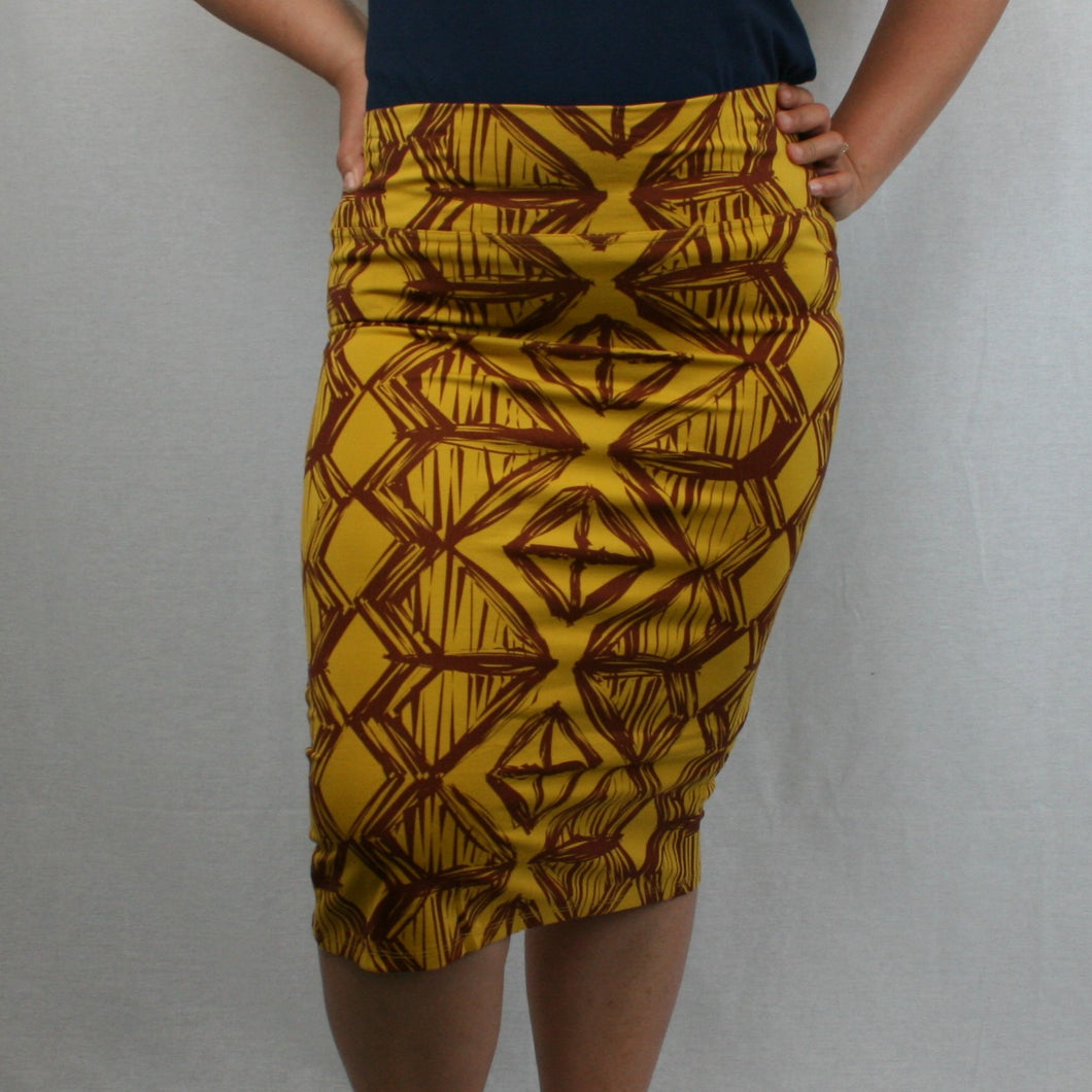 Sialei Siapo Skirt- LS480-TS/ Mustard Toffee