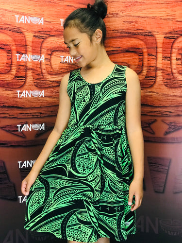 Sialei Girls Fantasy Dress LG1149 Green