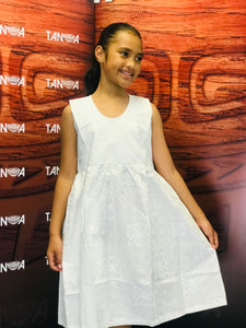LG1014 Girls Dress White