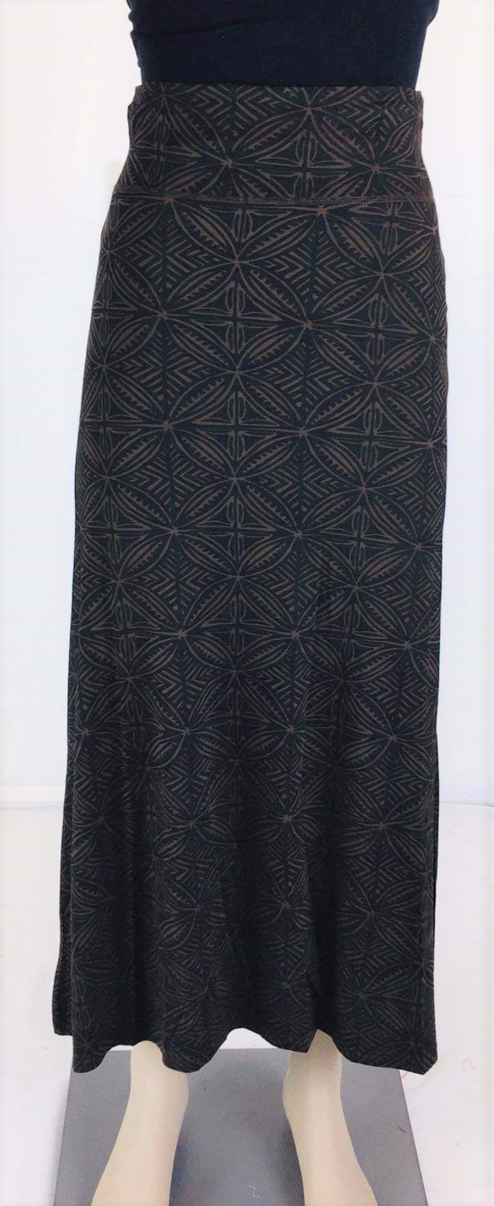 Ladies Maxi Tapa Skirt- LMS002-Brown
