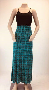 Women Long Skirt-LS594 Jade