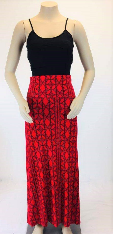 Sialei Leilei maxi skirt LS591 Red