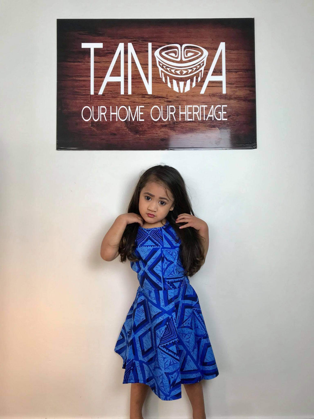 Girls Dress LG1031 Blue