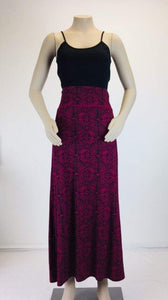 Ladies Maxi Tapa Skirt- LMS002-Maroon
