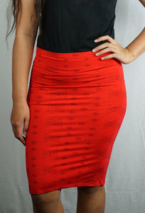 Malu Skirts- L5478-TS/ Red