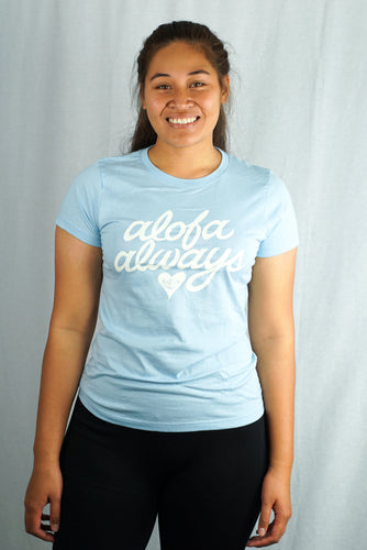 Alofa Always Tee- LSST007T/ Light Blue