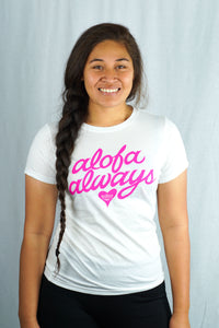 Alofa Always Tee- LSST007T/ White