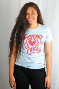 Love You Tee- LSST012T/ Light Blue