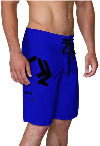Blue Charge Harder Side Logo Board Shorts