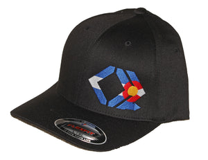 CO Flag Hat - Curved Brim - Black