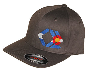 CO Flag Hat - Curved Brim - Grey