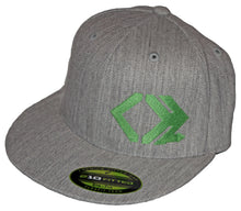 Classic Logo Hat - Straight Brim - Heather Grey