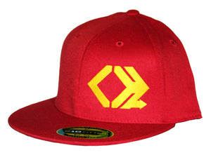 Classic Logo Hat - Straight Brim - Red