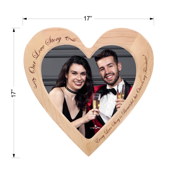 """Our Love Story"" - Engraved Photo Frame"