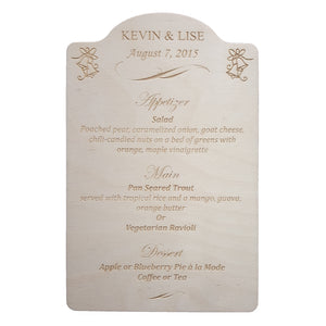 Wedding Menus & Invitations