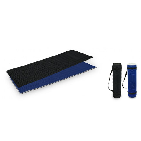 BODYWORX 4ASL814BS BLUE/SILVER WAVY WORKOUT MAT