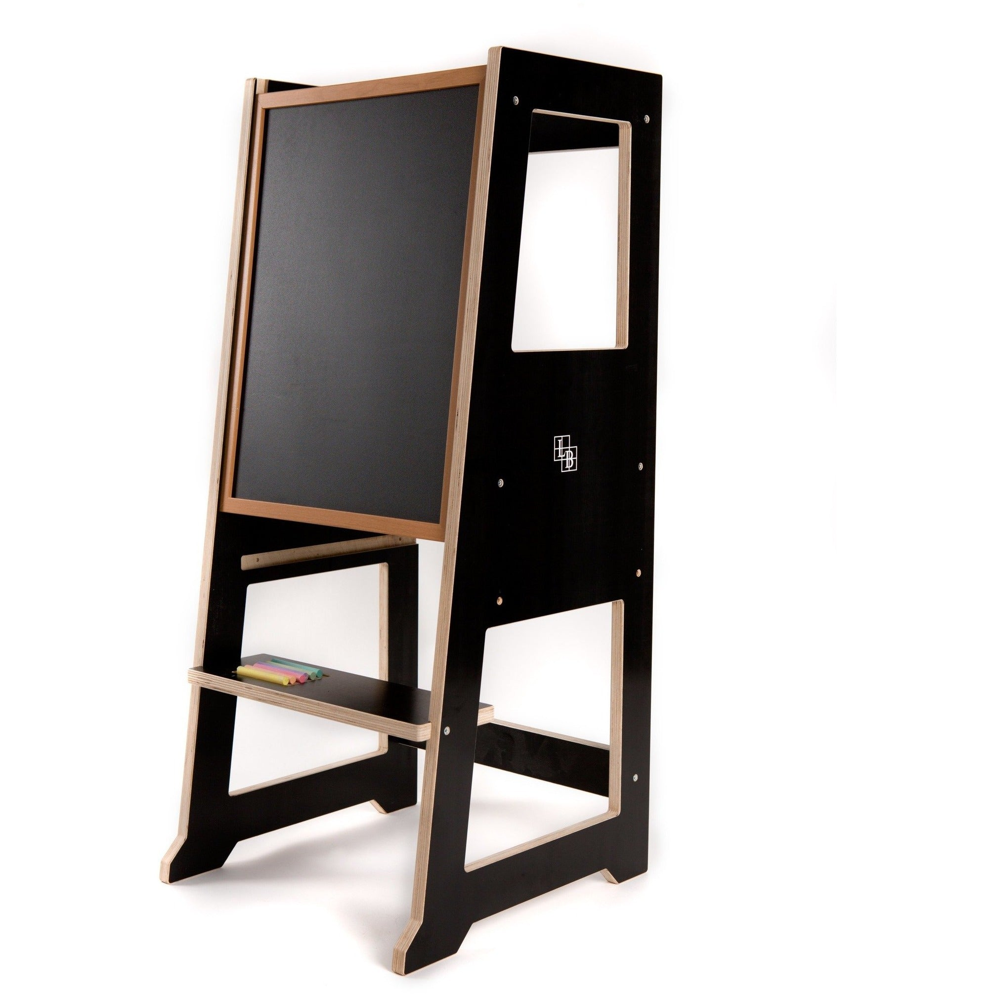 Slimline Learning Tower in Industrial Black