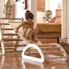 pikler arch climbing frame and toddler