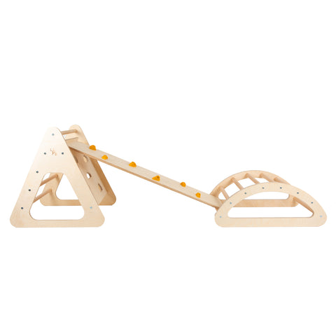 pikler triangle and pikler arch climbing frame package