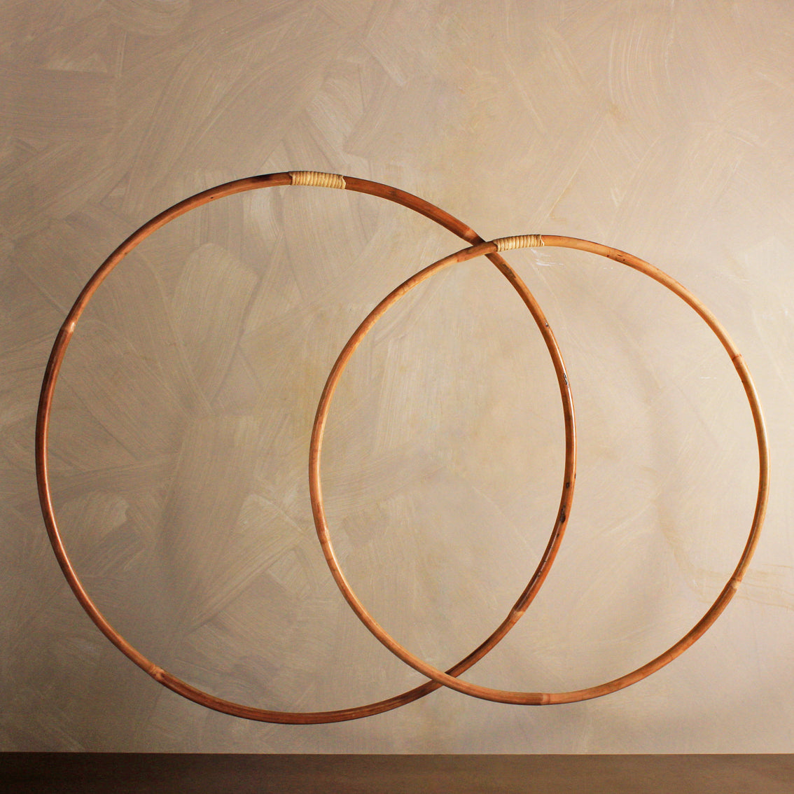 wooden hula hoops two