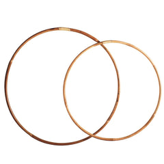 wooden hula hoops white background