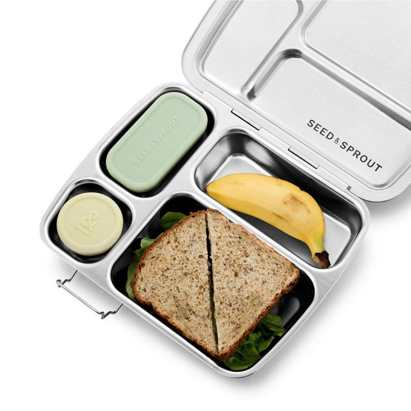 crunchbox stainless steel bento with sandwich